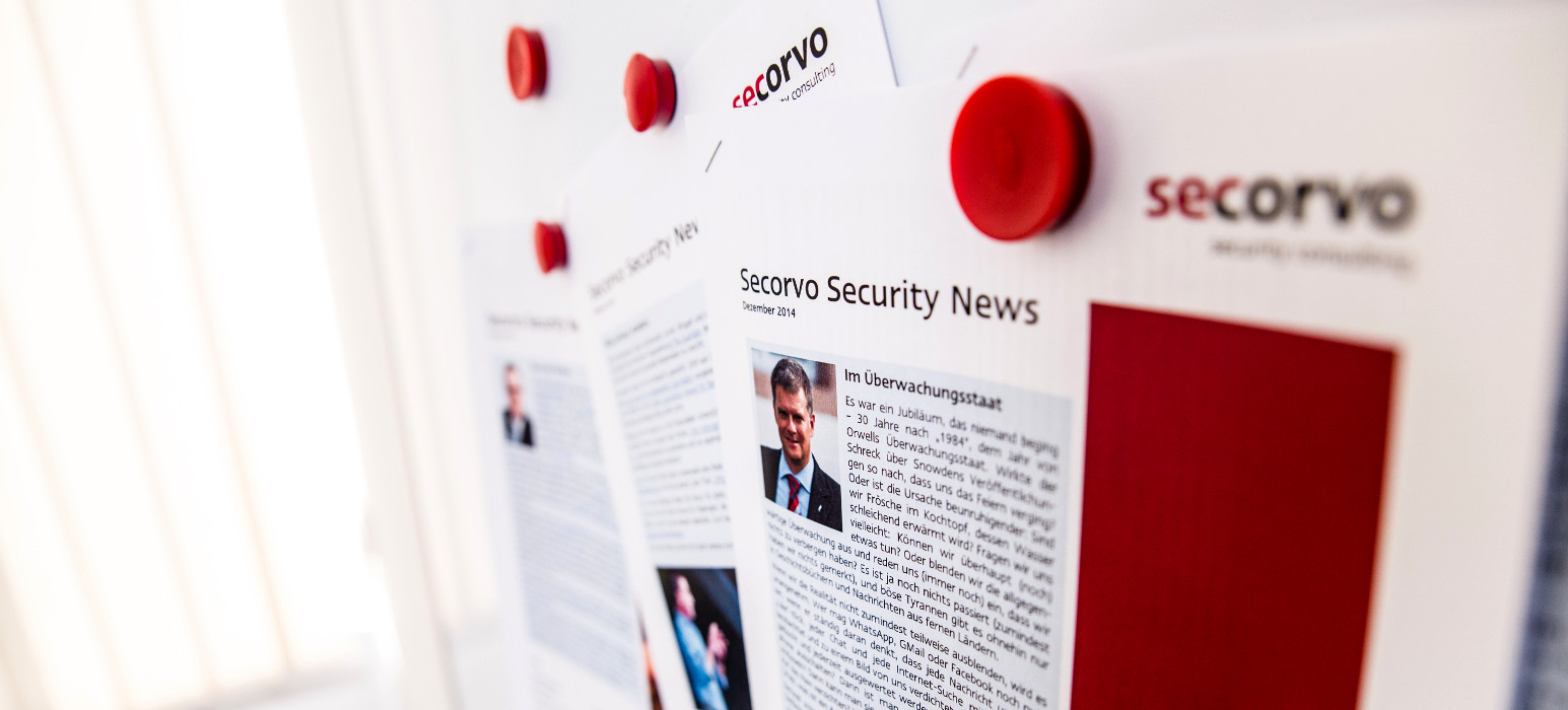 Startbild: Secorvo Security News